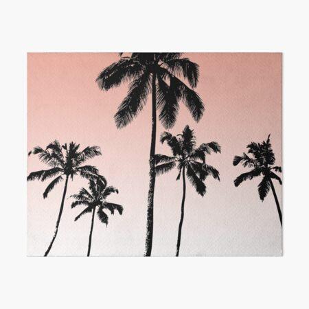 Palmiers au coucher du soleil Impression rigide