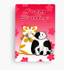 Frazzle and Basil Happy Birthday Card Canvas Print