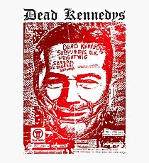 Dead kennedys face Photographic Print