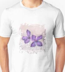 Zen Soft Pastel Clematis Bloom T-Shirt