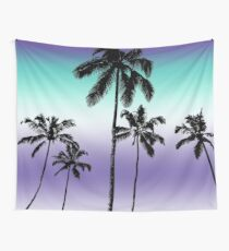 Alexandrite tropical palms Wall Tapestry