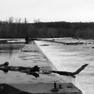 Potomac Winter Scene at the Dam by Bine