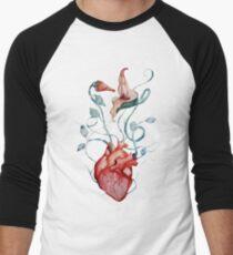 Pink Floyd Flowers | Watercolor painting | Rock fan art Men's Baseball ¾ T-Shirt