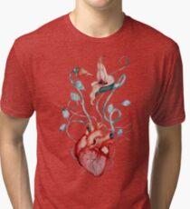 Pink Floyd Flowers | Watercolor painting | Rock fan art Tri-blend T-Shirt