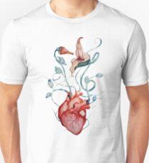 Pink Floyd Blumen | Aquarell | Rock-Fan-Kunst Slim Fit T-Shirt