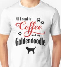 Coffee and my Goldendoodle Unisex T-Shirt