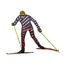 Cross country skiing by Louise Norman