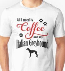 Coffee and my Italian Greyhound Unisex T-Shirt