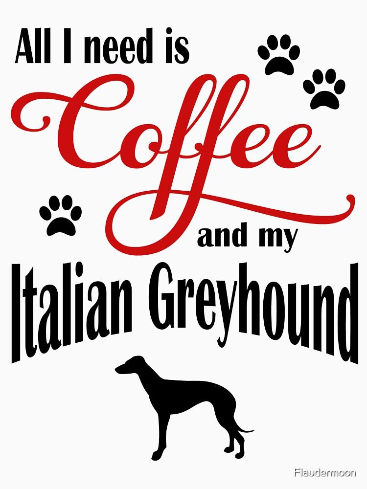 Coffee and my Italian Greyhound by Flaudermoon