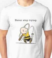 Charlie Brown - Never Stop Trying T-Shirt