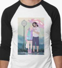 Camiseta ¾ bicolor para hombre BabyPastelHanni lluvia de verano