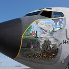 Ein KC-135 Stratotanker, der patriotische Nasenkunst anzeigt. von StocktrekImages