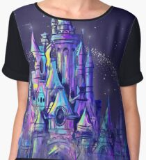 Magic Princess Fairytale Castle Kingdom Women's Chiffon Top