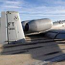 Das Heckteil einer A-10 Thunderbolt II hat direkten Kontakt zur Landebahn. von StocktrekImages