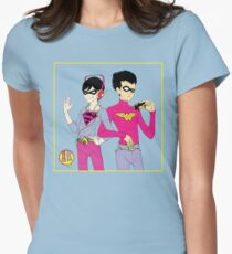 Robins (for blue) Womens Fitted T-Shirt