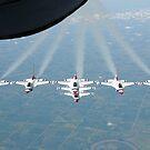Die US Air Force Thunderbird Demonstration Geschwader in der Formation. von StocktrekImages