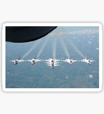 The U.S. Air Force Thunderbird demonstration squadron in formation. Sticker