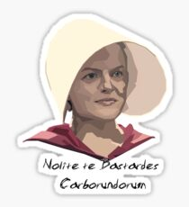 Offred The Handmaids Tale. Latin Sticker