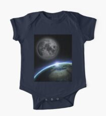 Earth and moon One Piece - Short Sleeve