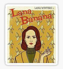 lana winters - lana banana // american horror story asylum Sticker