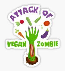 Attack Of A Vegan Zombie T-Shirt Sticker
