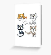 Set of cats Greeting Card
