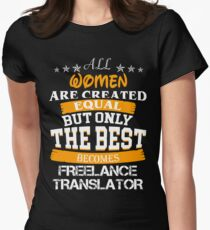 FREELANCE TRANSLATOR BEST COLLECTION 2017 Women's Fitted T-Shirt