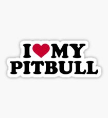 I love my Pitbull Sticker