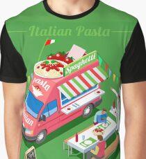 Italia Pasta Food Truck Graphic T-Shirt