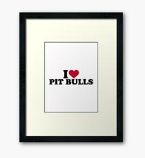 I love Pit Bulls Framed Print