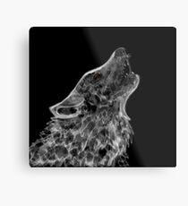 Geist - weißer Wolf Metallbild