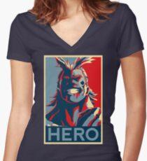 My Hero Academia - HERO!! Women's Fitted V-Neck T-Shirt