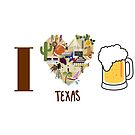 I Love Texas Beer tee by texashandmade