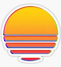 Outrun Retro Sun Sticker