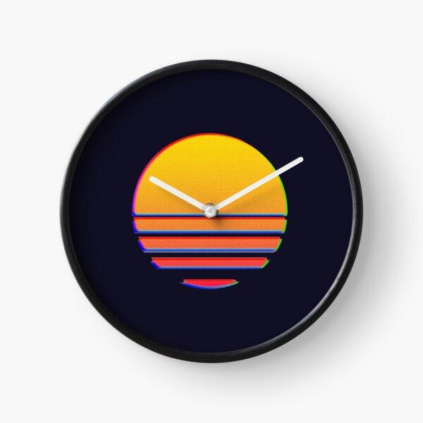 Outrun Retro Sun Clock