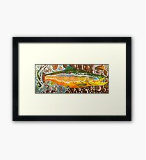Pumpkin Seed - Trout Painting Framed Print