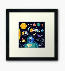 Space Universe Solar Big Bang Framed Print
