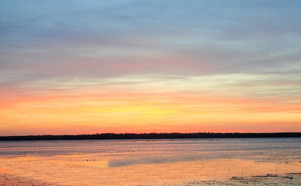Sunset on the Lake by tawaslake