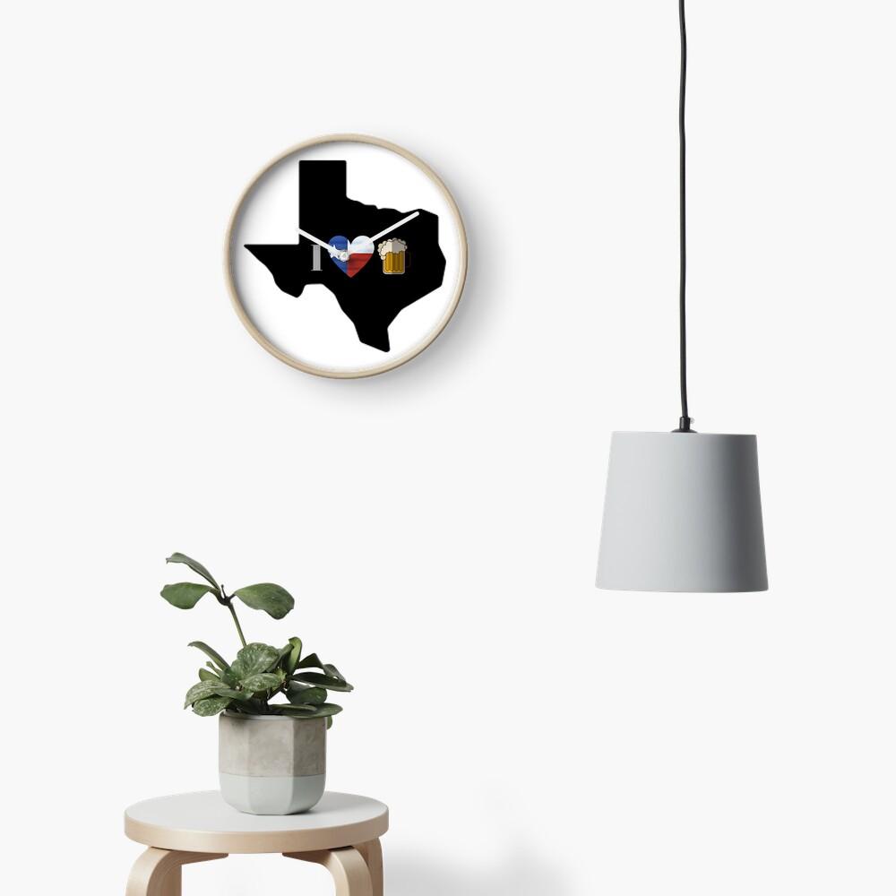 Texas Flag Beer Clock