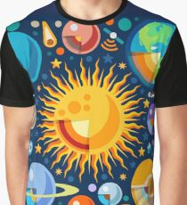 Space Solar System Universe Graphic T-Shirt