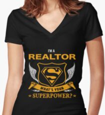 REALTOR BEST COLLECTION 2017 Women's Fitted V-Neck T-Shirt