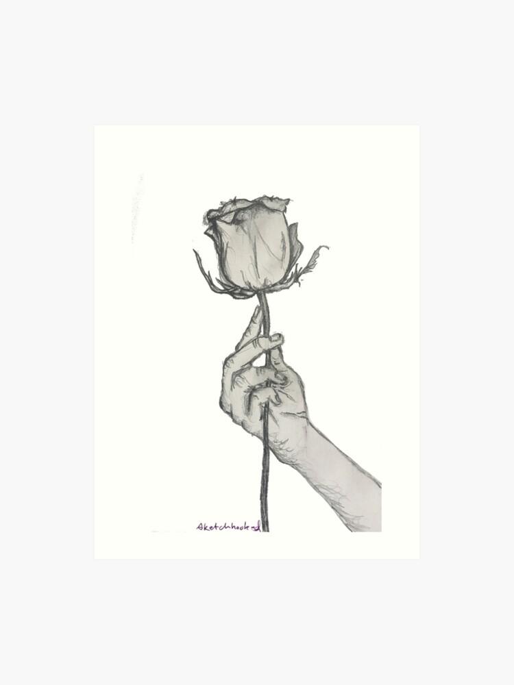 Sketch Art Rose