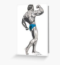 Mr Universe Greeting Card