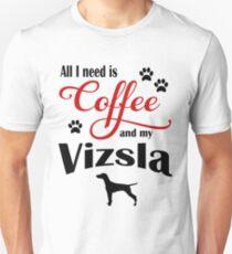 Coffee and My Vizsla T-Shirt
