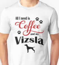 Coffee and My Vizsla Unisex T-Shirt