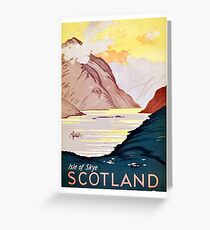 Scotland, Isle of skye, vintage, travel poster Greeting Card