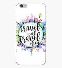 Vinilo o funda para iPhone Viaja bien, viaja a menudo