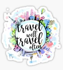 Travel Well, Travel Often Sticker