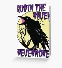 Edgar Allan Poe The Raven Nevermore Greeting Card
