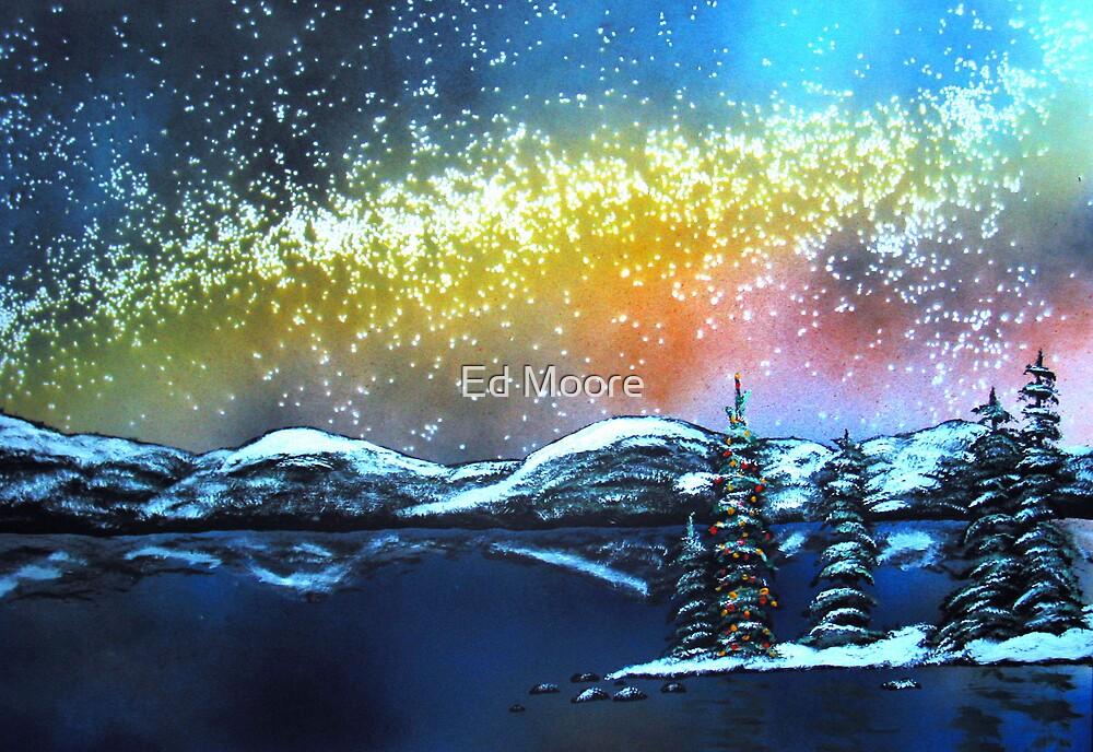 Christmas Eve at Lake Tahoe, California by Ed Moore